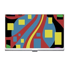 Colorful abstrac art Business Card Holders
