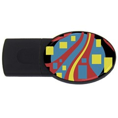 Colorful abstrac art USB Flash Drive Oval (2 GB)