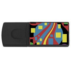 Colorful abstrac art USB Flash Drive Rectangular (2 GB)