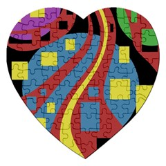 Colorful abstrac art Jigsaw Puzzle (Heart)