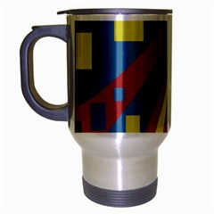 Colorful abstrac art Travel Mug (Silver Gray)