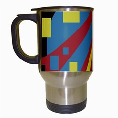 Colorful abstrac art Travel Mugs (White)