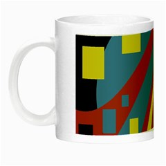Colorful abstrac art Night Luminous Mugs