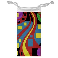 Colorful abstrac art Jewelry Bags