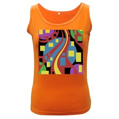 Colorful abstrac art Women s Dark Tank Top