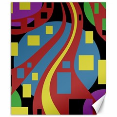 Colorful abstrac art Canvas 8  x 10