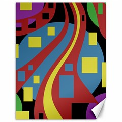 Colorful abstrac art Canvas 12  x 16
