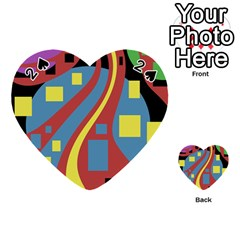 Colorful abstrac art Playing Cards 54 (Heart)