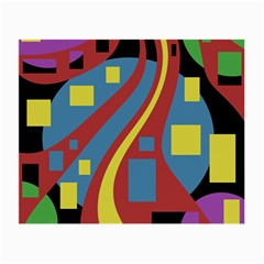 Colorful abstrac art Small Glasses Cloth (2-Side)