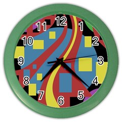 Colorful abstrac art Color Wall Clocks
