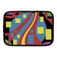 Colorful abstrac art Netbook Case (Medium)