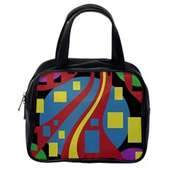 Colorful abstrac art Classic Handbags (One Side)