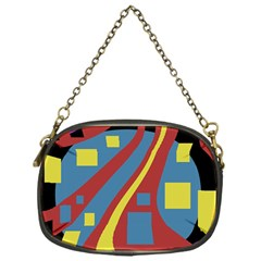 Colorful abstrac art Chain Purses (One Side)