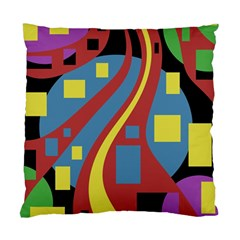 Colorful abstrac art Standard Cushion Case (One Side)
