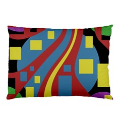 Colorful abstrac art Pillow Case