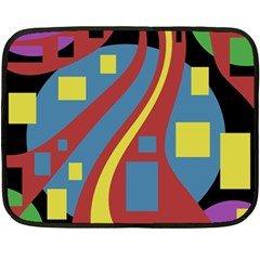 Colorful abstrac art Double Sided Fleece Blanket (Mini)