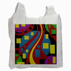 Colorful abstrac art Recycle Bag (One Side)
