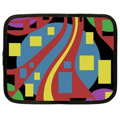 Colorful abstrac art Netbook Case (XL)