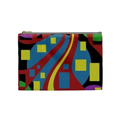 Colorful abstrac art Cosmetic Bag (Medium)