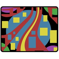 Colorful abstrac art Fleece Blanket (Medium)