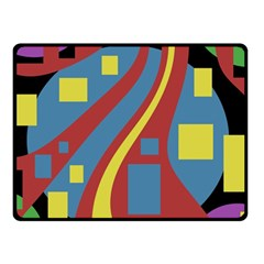 Colorful abstrac art Fleece Blanket (Small)