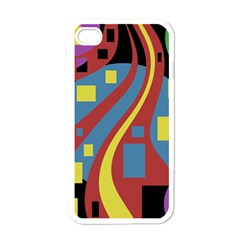 Colorful abstrac art Apple iPhone 4 Case (White)