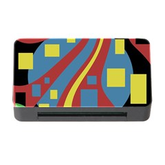 Colorful abstrac art Memory Card Reader with CF