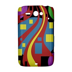 Colorful abstrac art HTC ChaCha / HTC Status Hardshell Case