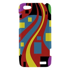 Colorful abstrac art HTC One V Hardshell Case
