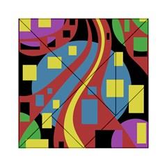 Colorful abstrac art Acrylic Tangram Puzzle (6  x 6 )