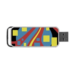 Colorful abstrac art Portable USB Flash (Two Sides)