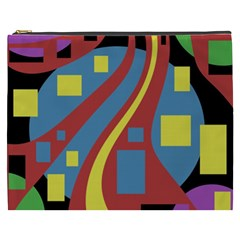 Colorful abstrac art Cosmetic Bag (XXXL)