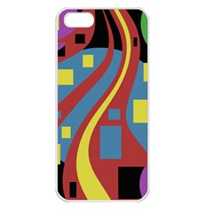 Colorful abstrac art Apple iPhone 5 Seamless Case (White)
