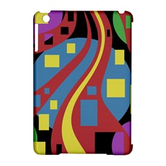 Colorful abstrac art Apple iPad Mini Hardshell Case (Compatible with Smart Cover)