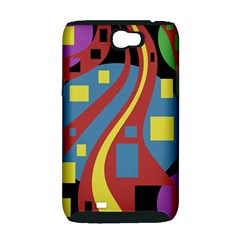 Colorful abstrac art Samsung Galaxy Note 2 Hardshell Case (PC+Silicone)