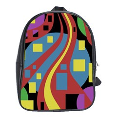 Colorful abstrac art School Bags (XL)