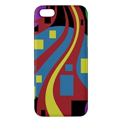 Colorful abstrac art Apple iPhone 5 Premium Hardshell Case