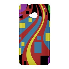 Colorful abstrac art HTC One M7 Hardshell Case