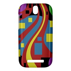 Colorful abstrac art HTC One SV Hardshell Case