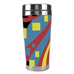 Colorful abstrac art Stainless Steel Travel Tumblers