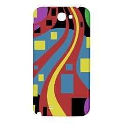 Colorful abstrac art Samsung Note 2 N7100 Hardshell Back Case