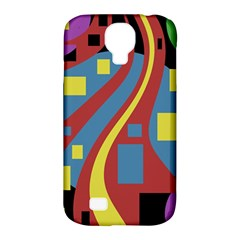 Colorful abstrac art Samsung Galaxy S4 Classic Hardshell Case (PC+Silicone)