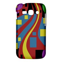 Colorful abstrac art Samsung Galaxy Ace 3 S7272 Hardshell Case