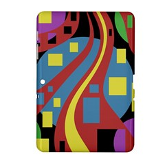 Colorful abstrac art Samsung Galaxy Tab 2 (10.1 ) P5100 Hardshell Case