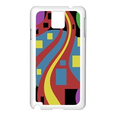 Colorful abstrac art Samsung Galaxy Note 3 N9005 Case (White)