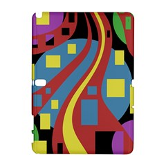 Colorful abstrac art Samsung Galaxy Note 10.1 (P600) Hardshell Case