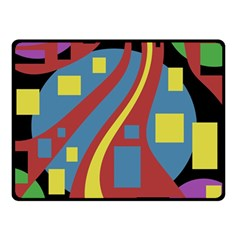 Colorful abstrac art Double Sided Fleece Blanket (Small)