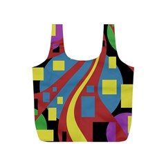 Colorful abstrac art Full Print Recycle Bags (S)