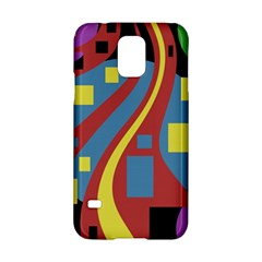 Colorful abstrac art Samsung Galaxy S5 Hardshell Case