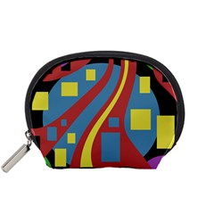 Colorful abstrac art Accessory Pouches (Small)